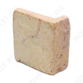 """Угловой камень """"Плитка"""" доломит желто-розовый """"персик"""" - 100хПогонх20 мм, шуба, галтованный, пиленый с 5 сторон"""