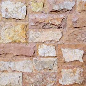 """Римская кладка «Микс» доломит желто-розовый """"персик"""" - со сколом, пиленый с 5 сторон"""
