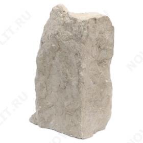 """Угловой камень """"Плитняк"""" доломит бело серый """"изборский"""" - Погонх30 мм, шуба, пиленый с 1 стороны"""