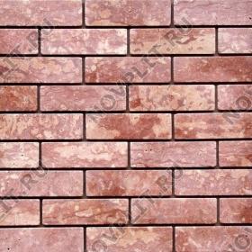 Камень под кирпич доломит малиновый с розовым - 60х200х20 мм, галтованный, пиленый с 6 сторон