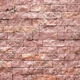 """Камень лапша """"Полоска"""" доломит малиновый с розовым - 50хПогон мм, шуба, галтованный, пиленый с 5 сторон"""