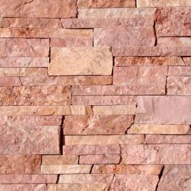 """Камень лапша """"Стрелка"""" доломит малиновый с розовым - 30хПогон мм, шуба, пиленый с 3 сторон"""