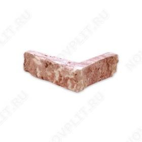 """Угловой камень """"Стрелки"""" доломит малиновый с розовым - 30хПогон мм, шуба, пиленый с 3 сторон"""