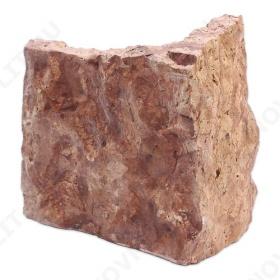 """Угловой камень """"Плитняк"""" доломит малиновый с розовым - Погонх30 мм, шуба, пиленый с 1 стороны"""