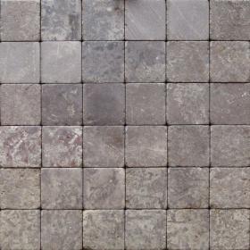 """Камень для пола """"Квадрат"""" доломит бурый """"серо-малиновый"""" - 100х100х20 мм, галтованный, пиленый с 6 сторон"""