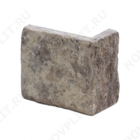 """Угловой камень """"Плитка"""" доломит бурый """"серо-малиновый"""" - 100хПогонх20 мм, шуба, галтованный, пиленый с 5 сторон"""
