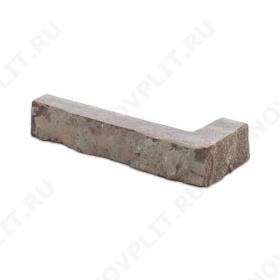 """Угловой камень """"Полоска"""" доломит бурый """"серо-малиновый"""" - 20хПогон мм, шуба, пиленый с 5 сторон"""