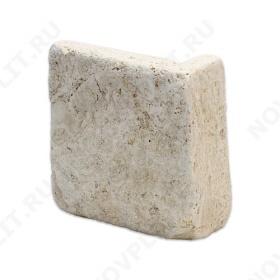 """Угловой камень """"Плитка"""" доломит бежевый - 100хПогонх20 мм, шуба, галтованный, пиленый с 5 сторон"""