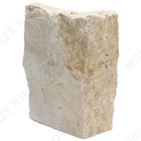 """Угловой камень """"Плитняк"""" доломит бежевый - Погонх30 мм, шуба, пиленый с 1 стороны"""