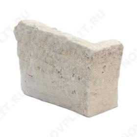 """Угловой камень """"Горбушка"""" доломит бежевый - 30 мм, галтованный, пиленый с 1 стороны"""