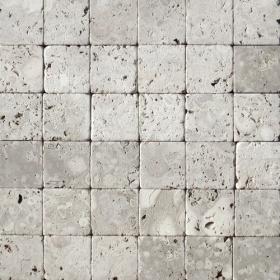 """Камень для пола """"Квадрат"""" доломит светло-серый """"мустанг"""" - 100х100х20 мм, галтованный, пиленый с 6 сторон"""