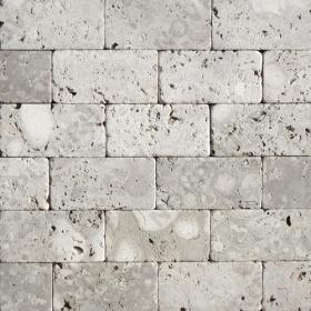 """Камень для пола """"Кирпич"""" доломит светло-серый """"мустанг"""" - 100х50х20 мм, галтованный, пиленый с 6 сторон"""