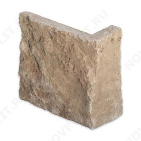 """Угловой камень """"Плитка"""" доломит кофейный - 100хПогон мм, шуба, пиленый с 5 сторон"""
