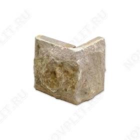 """Угловой камень """"Плитка"""" доломит кофейный - 100хПогон мм, со сколом, пиленый с 5 сторон"""