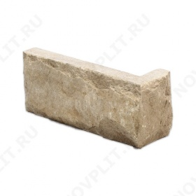 """Угловой камень """"Кирпич"""" доломит кофейный - 60х(50+150) мм, со сколом, пиленый с 5 сторон"""