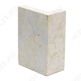 """Угловой камень """"Плитка"""" доломит серый с желтым - 100хПогонх20 мм, со сколом, пиленая, пиленый с 5 сторон"""