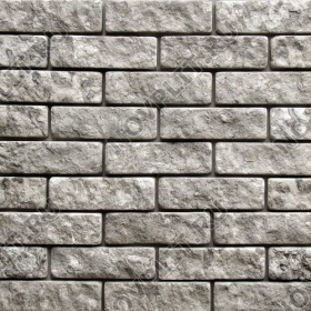 Камень под кирпич доломит серый - 60х200 мм, шуба, галтованный, пиленый с 5 сторон