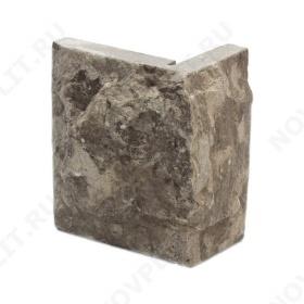 """Угловой камень """"Плитка"""" доломит серый - 100хПогон мм, со сколом, пиленый с 5 сторон"""