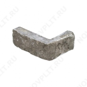 """Угловой камень """"Стрелки"""" доломит серый - 30хПогон мм, шуба, пиленый с 3 сторон"""