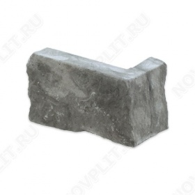 """Угловой камень """"Стрелки"""" доломит серый - 90хПогон мм, шуба, пиленый с 3 сторон"""