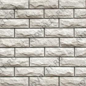 Камень под кирпич доломит белый с бежевым - 60х200 мм, со сколом, пиленый с 5 сторон