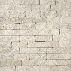 """Камень лапша """"Полоска"""" доломит белый с бежевым - 50хПогон мм, шуба, галтованный, пиленый с 5 сторон"""
