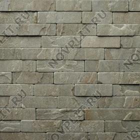 """Камень лапша """"Полоска"""" песчаник серо-зеленый - 50хПогон мм, шуба, галтованный, пиленый с 5 сторон"""