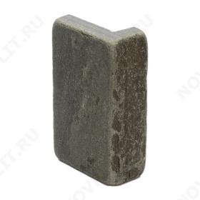"""Угловой камень """"Плитка"""" песчаник серо-зеленый - 100хПогонх20 мм, шуба, галтованный, пиленый с 5 сторон"""