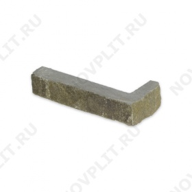 """Угловой камень """"Полоска"""" песчаник серо-зеленый - 20хПогон мм, шуба, пиленый с 5 сторон"""