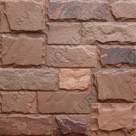"""Римская кладка «Микс» песчаник терракотовый """"красный"""" - со сколом, пиленый с 4 сторон"""