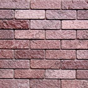 Камень под кирпич лемезит бордовый - 60х200 мм, шуба, галтованный, пиленый с 5 сторон