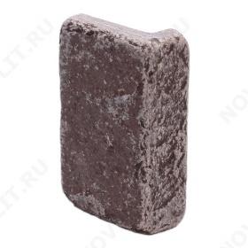 """Угловой камень """"Плитка"""" лемезит бордовый - 100хПогонх20 мм, шуба, галтованный, пиленый с 5 сторон"""