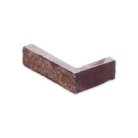 """Угловой камень """"Стрелки"""" лемезит бордовый - 30хПогон мм, шуба, пиленый с 3 сторон"""