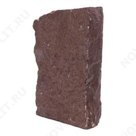 """Угловой камень """"Плитняк"""" лемезит бордовый - Погонх30 мм, шуба, пиленый с 1 стороны"""