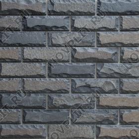 Камень под кирпич шунгит тёмно-серый (чёрный) - 60х200 мм, со сколом, пиленый с 5 сторон