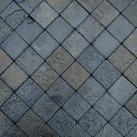 """Брусчатка """"Квадрат"""" шунгит тёмно-серый (чёрный) - 100х100х30 мм, шуба, галтованный, пиленый с 5 сторон"""
