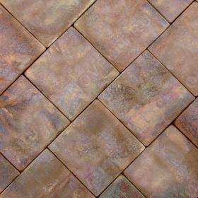 """Брусчатка """"Квадрат"""" песчаник терракотовый """"красный"""" - 150х150х30 мм, шуба, галтованный, пиленый с 4 сторон"""