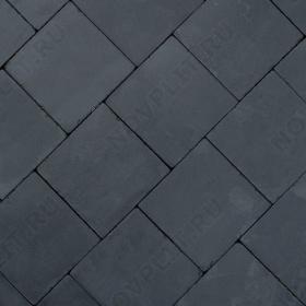 """Брусчатка """"Квадрат"""" шунгит тёмно-серый (чёрный) - 200х200х30 мм, галтованный, пиленый с 6 сторон"""