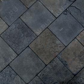 """Брусчатка """"Квадрат"""" шунгит тёмно-серый (чёрный) - 200х200х30 мм, шуба, галтованный, пиленый с 5 сторон"""