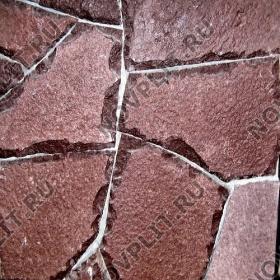 """Дикий камень """"Плитняк"""" лемезит бордовый - 40 мм, шуба, необработанный"""