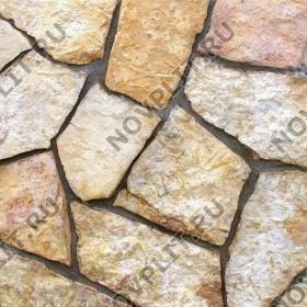 """Дикий камень """"Плитняк"""" доломит желто-розовый """"персик"""" - 20 мм, шуба, пиленый с 1 стороны"""
