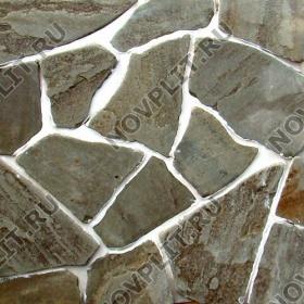 Галтованный плитняк песчаник серо-зеленый - 20 мм, шуба, галтованный, необработанный