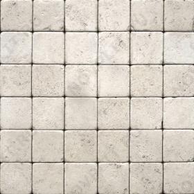 """Камень для пола """"Квадрат"""" доломит белый с бежевым - 300х300х20 мм, галтованный, пиленый с 6 сторон"""