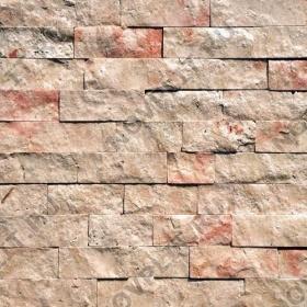 """Камень лапша """"Полоска"""" доломит кремовый с розовым - 50хПогон мм, шуба, пиленый с 5 сторон"""