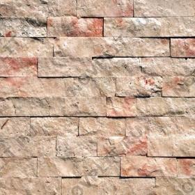 """Камень лапша """"Полоска"""" доломит кремовый с розовым - 20хПогон мм, шуба, пиленый с 5 сторон"""