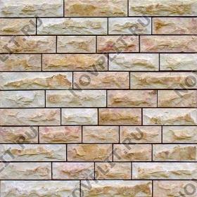 """Камень лапша """"Полоска"""" доломит кремовый с розовым - 50хПогон мм, со сколом, пиленый с 5 сторон"""