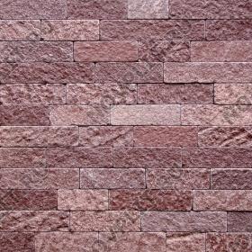"""Камень лапша """"Полоска"""" лемезит бордовый - 90хПогон мм, шуба, галтованный, пиленый с 5 сторон"""