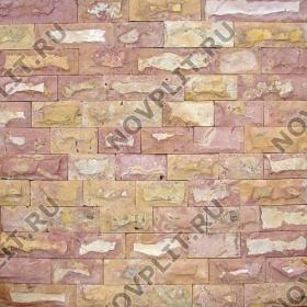 """Камень лапша """"Полоска"""" доломит желто-розовый """"персик"""" - 60хПогон мм, со сколом, пиленый с 5 сторон"""