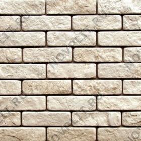 Камень под кирпич доломит бежевый - 60х200 мм, шуба, галтованный, пиленый с 5 сторон