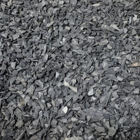 Шунгитовый щебень шунгит тёмно-серый (чёрный) - 10-20 мм, необработанный, дробленый
